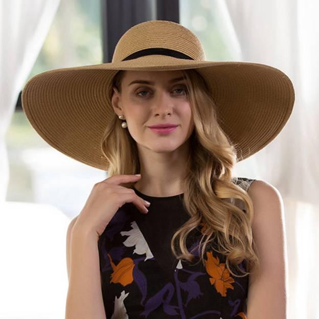 Ladies' Glamourous/Eye-catching Papyrus Straw Hats/Beach/Sun Hats