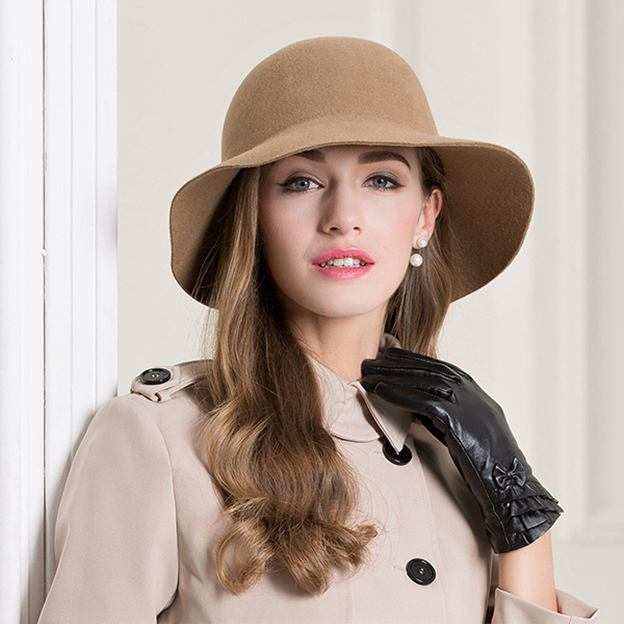 Ladies' Elegant/Charming Wool Bowler/Cloche Hats/Tea Party Hats