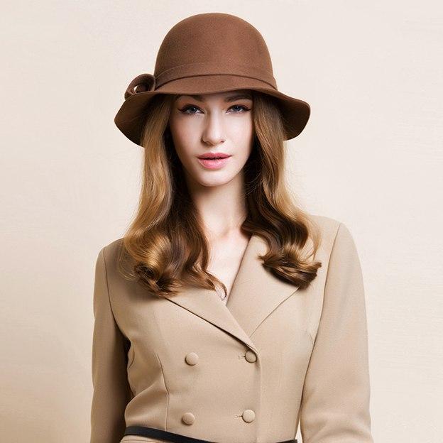 Ladies' Elegant/Simple Wool Bowler/Cloche Hats/Tea Party Hats
