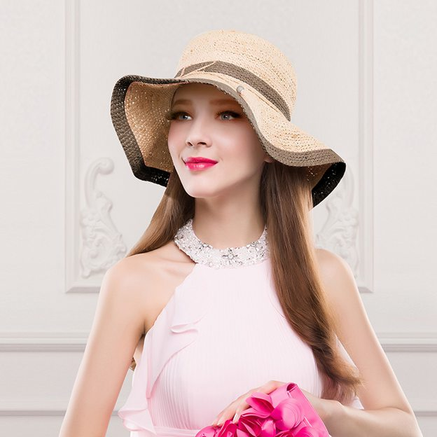 Ladies' Eye-catching/Classic Raffia Straw Straw Hats/Beach/Sun Hats With Bowknot