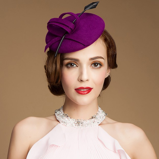 Ladies' Elegant/Classic Wool Fascinators/Tea Party Hats With Feather