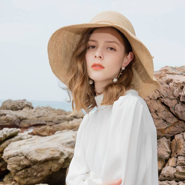Ladies' Elegant/Pretty Raffia Straw Straw Hats/Beach/Sun Hats With Bowknot