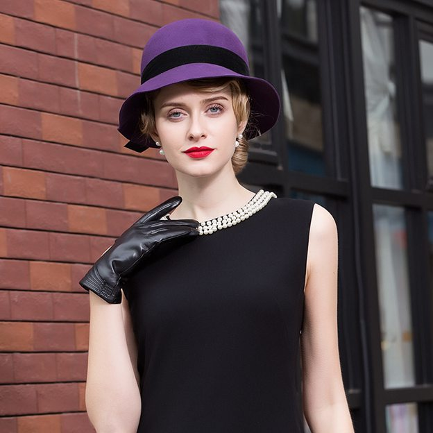 Ladies' Glamourous/Charming Wool Bowler/Cloche Hats With Bowknot