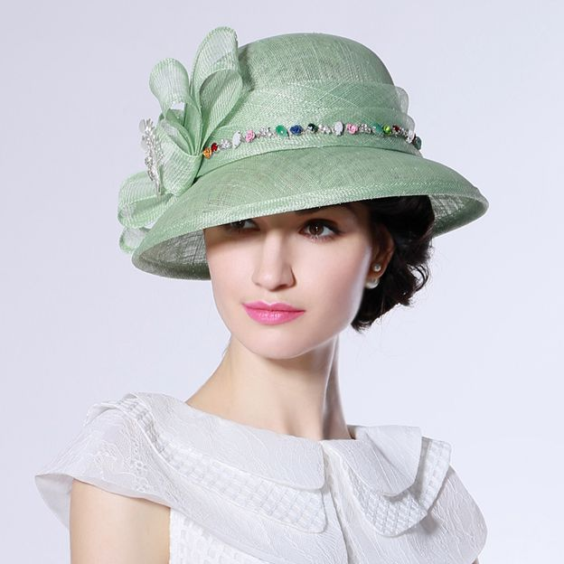 Ladies' Elegant/Beautiful Cambric Tea Party Hats/Kentucky Derby Hats With Bowknot