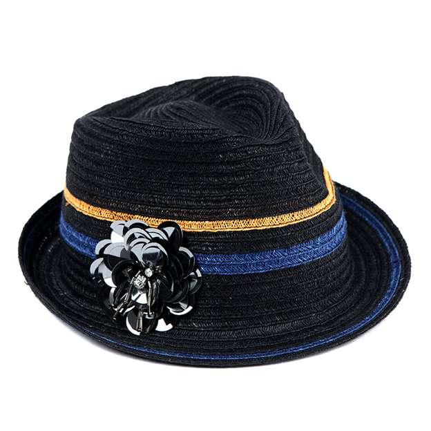 Ladies' Beautiful/Elegant Rattan Straw Panama Hats/Beach/Sun Hats With Flower