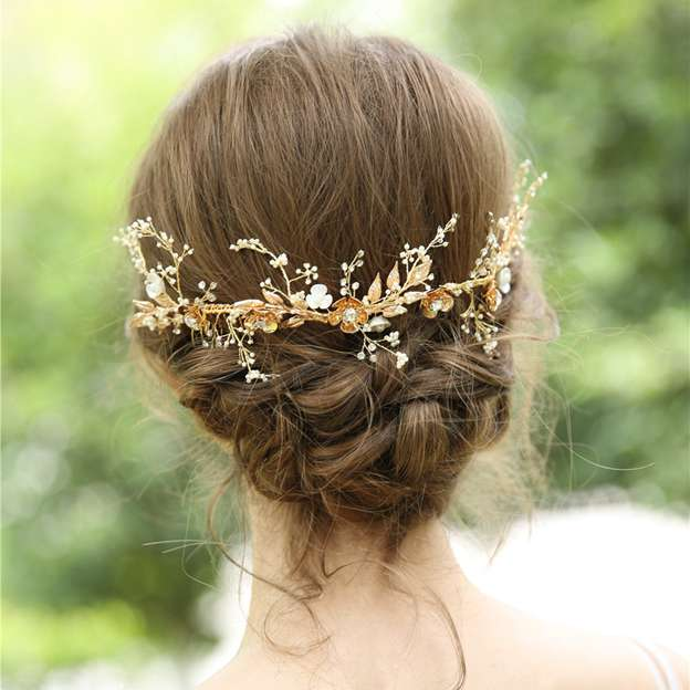 Ladies Pretty Alloy/Beads/Imitation Pearls/Natural Shell/Rhinestone With Flower Combs & Barrettes