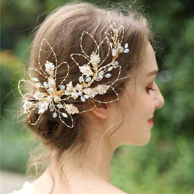 Ladies Beautiful/Elegant Alloy/Beads/Crystal/Rhinestone Hairpins