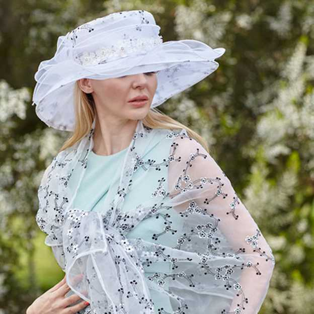 Ladies' Elegant/Beautiful Organza Tea Party Hats/Kentucky Derby Hats With Flower Bowknot