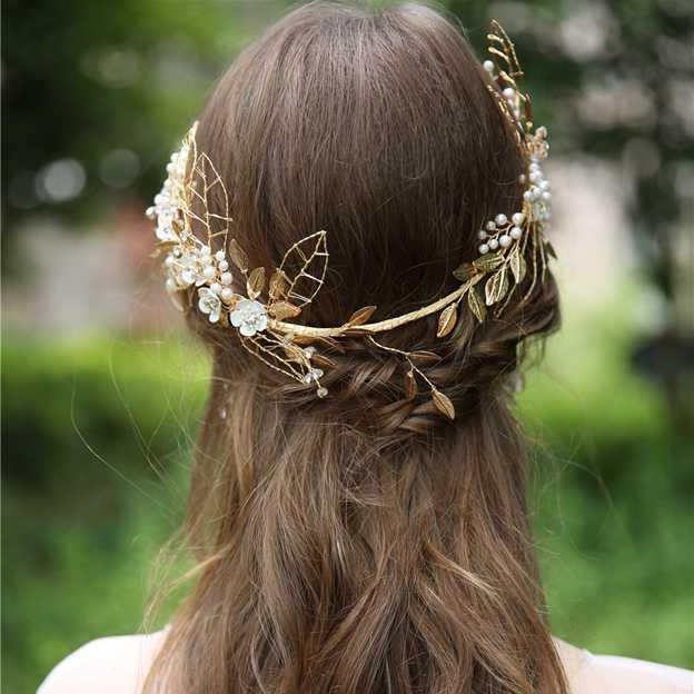Ladies Alloy/Freshwater Pearl/Imitation Pearls With Crystal/Rhinestone Tiaras