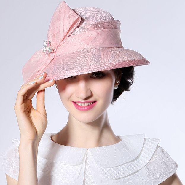 Ladies' Nice/Beautiful Linen Beach/Sun Hats/Tea Party Hats With Bowknot Diamond