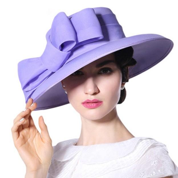 Ladies' Elegant/Beautiful Chiffon Beach/Sun Hats/Kentucky Derby Hats With Bowknot