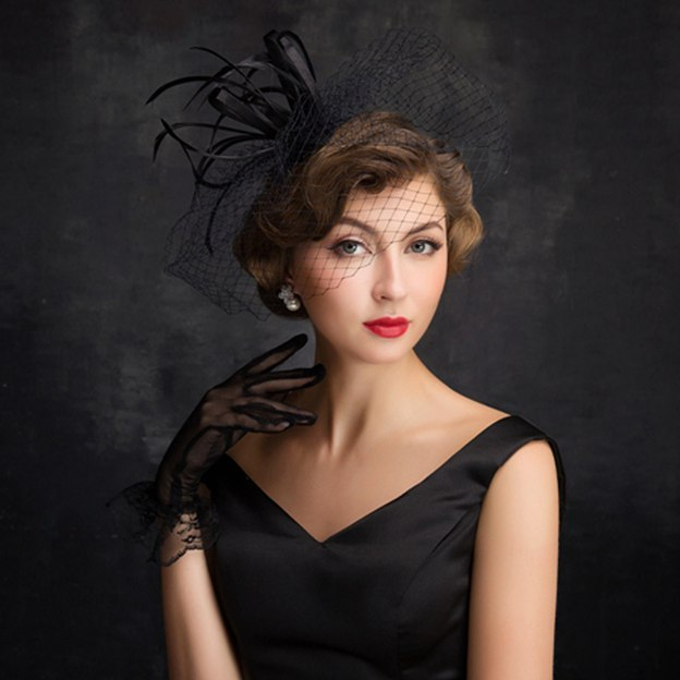 Ladies' Elegant/Glamourous Net Yarn Cambric Fascinators With Bowknot Imitation Pearls