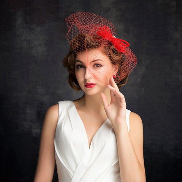 Ladies' Beautiful/Glamourous Net Yarn Cambric Fascinators