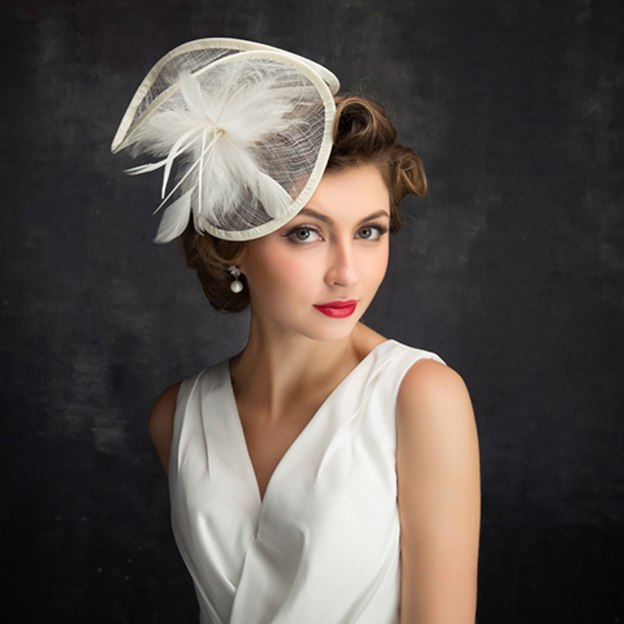Ladies' Elegant/Beautiful Cambric Fascinators With Feather Flower