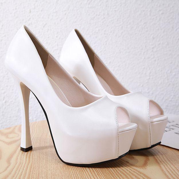 Women's Leatherette Heels Platform Fashion Shoes