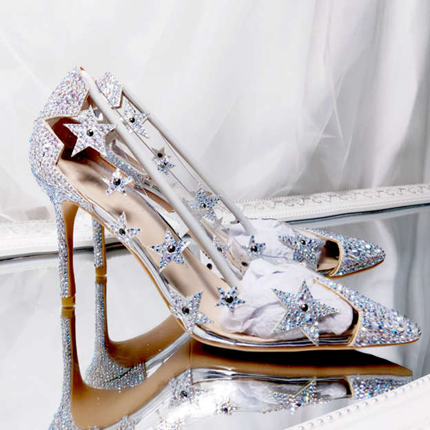 Women's Sparkling Glitter PVC Pumps Heels Fashion Shoes