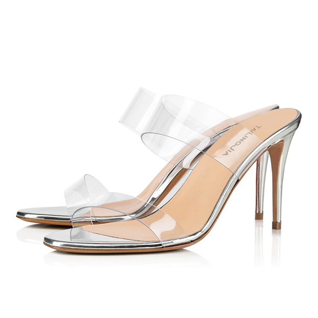 Women's PVC Flip Flops Heels Fashion Shoes