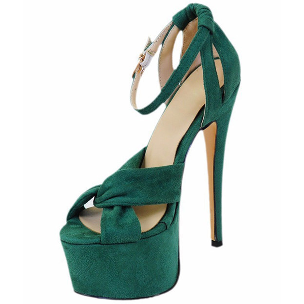 Women's Leatherette With Ankle Strap Heels Sandals Fashion Shoes