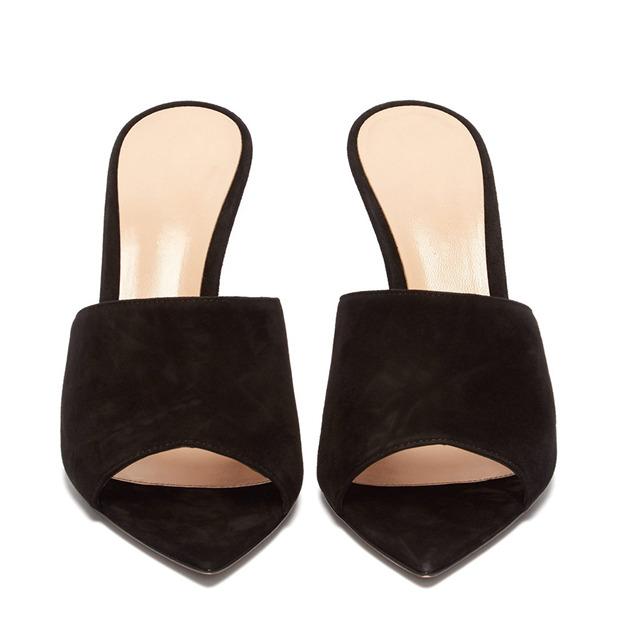 Women's PU Flip Flops Heels Fashion Shoes