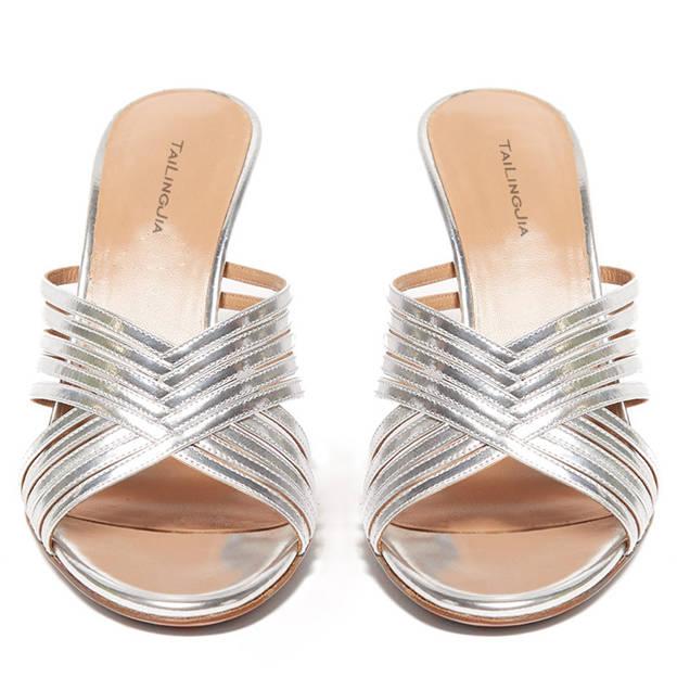 Women's PU Heels Flip Flops Shoes