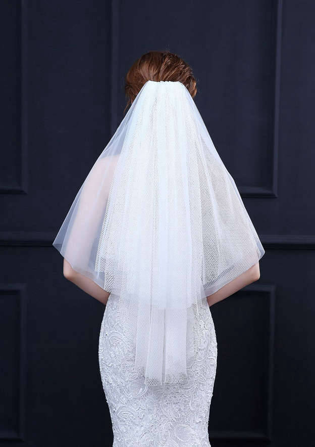 Four-tier Tulle Net Fingertip Bridal Veils
