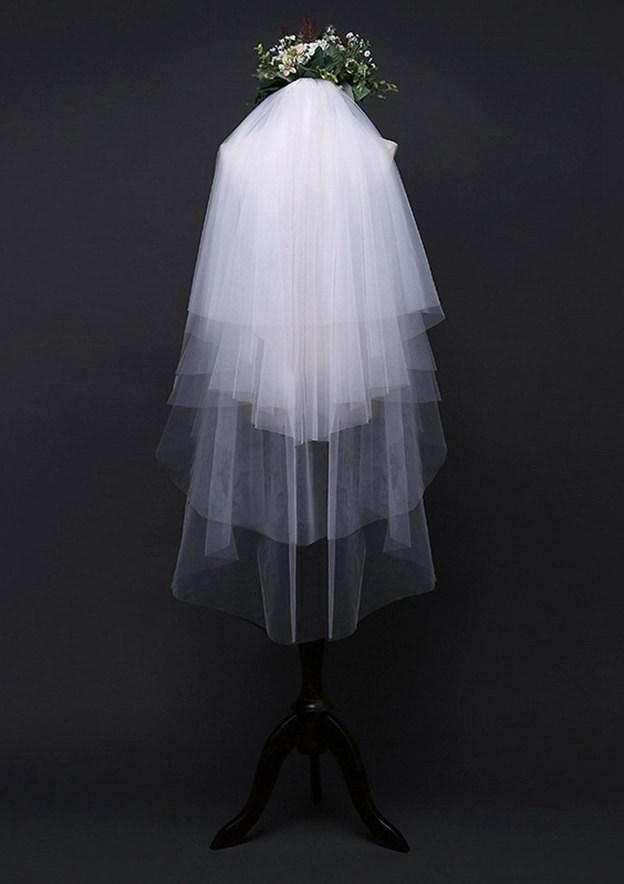 Four-tier Fingertip Bridal Veils