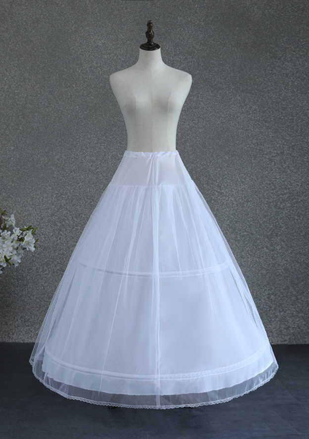 Women Polyester/Tulle Netting Ankle-length 2 Tiers Bridal Petticoats