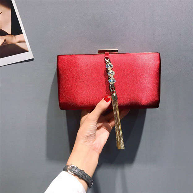 Charming Suede Clutches/Evening Bags With Tassel
