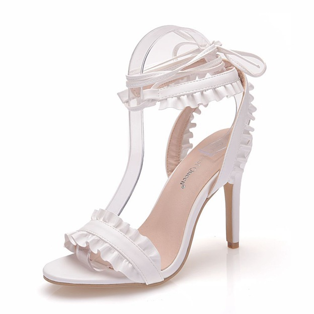 Women's PU With Lace-up Peep Toe/Sandals Fashion Shoes