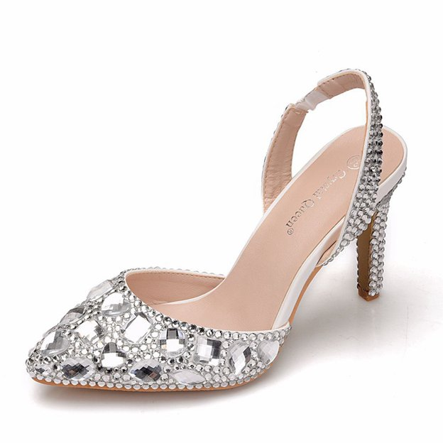 Women's PU With Rhinestone Sandals Heels Fashion Shoes