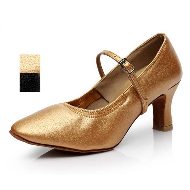 Women's PU With Buckle Close Toe/Heels Dance Shoes
