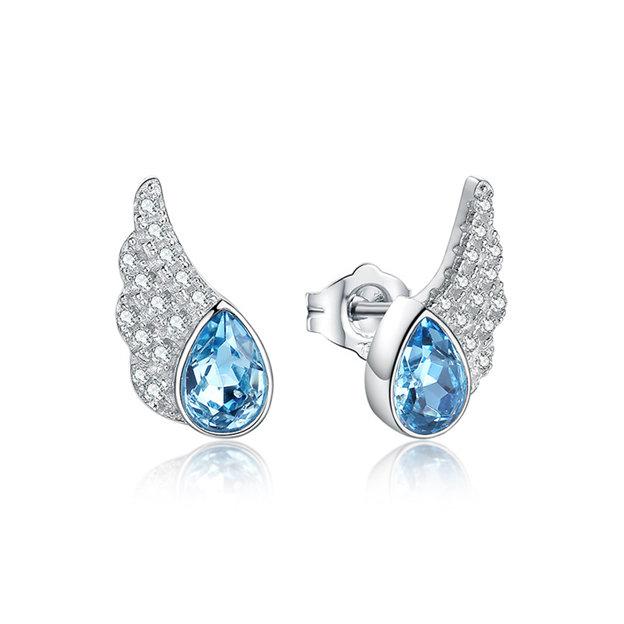 Women's Beautiful 925 Sterling Silver Earrings With Austrian Crystal