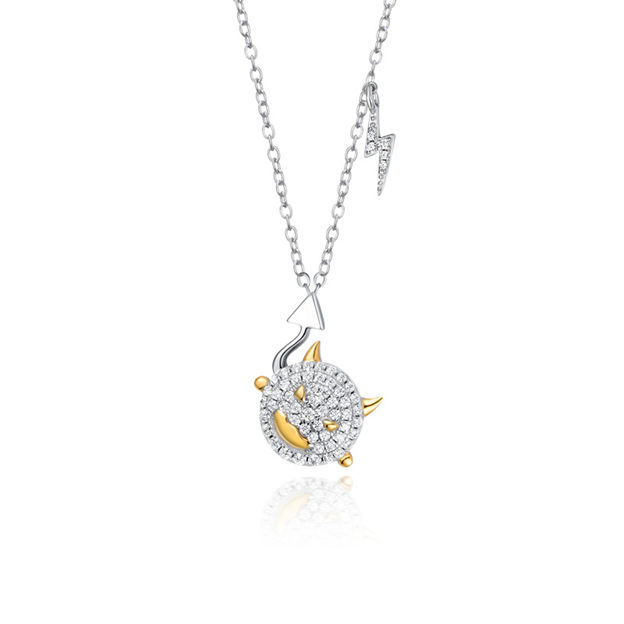 Women's Classic 925 Sterling Silver Necklaces With Cubic Zirconia