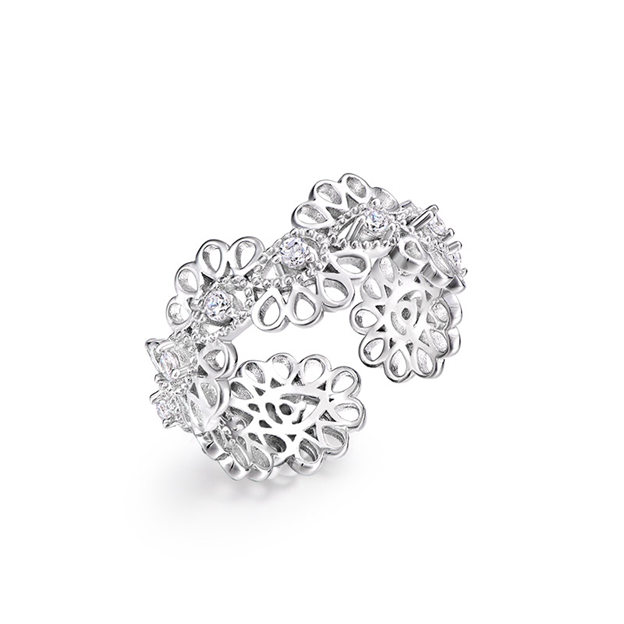 Women's Beautiful 925 Sterling Silver Rings With Cubic Zirconia For Her
