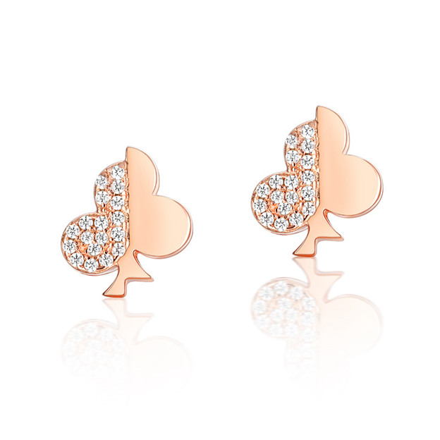 Women's Charming 925 Sterling Silver Earrings With Cubic Zirconia