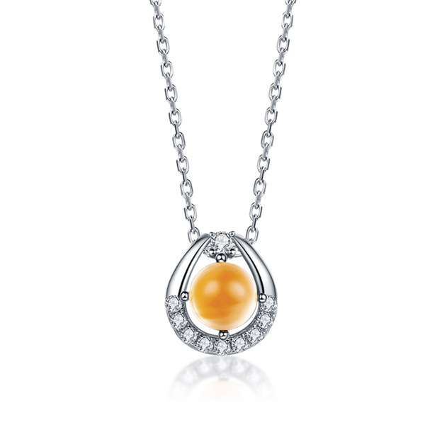 Women's Elegant 925 Sterling Silver Necklaces With Crystal/Cubic Zirconia For Her