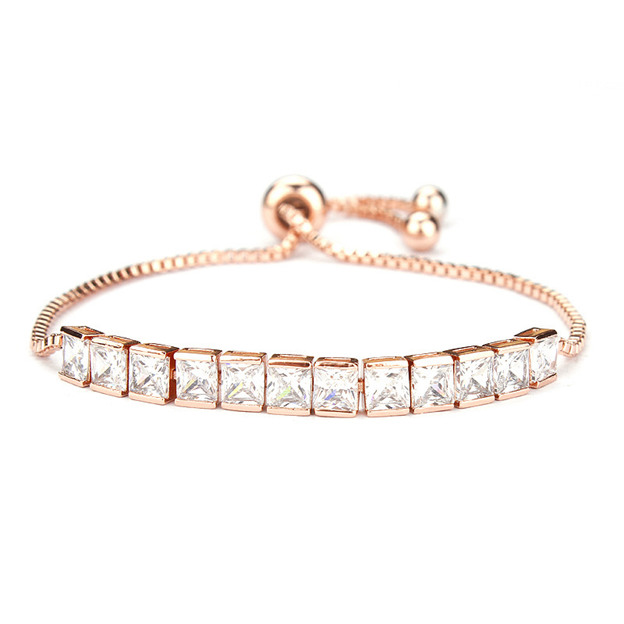 Women's Attractive Silver Bracelets With Rhinestone For Girlfriend/For Her