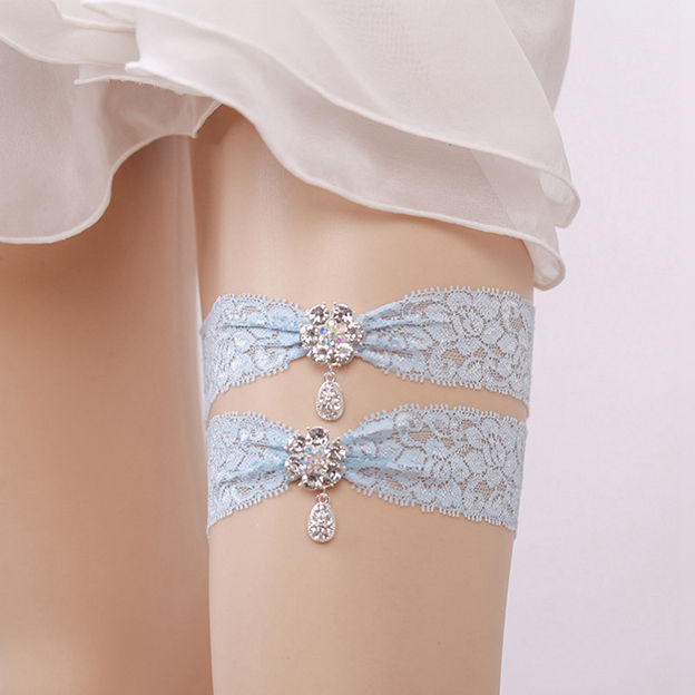 Bridal Charming Lace Garters With Rhinestone