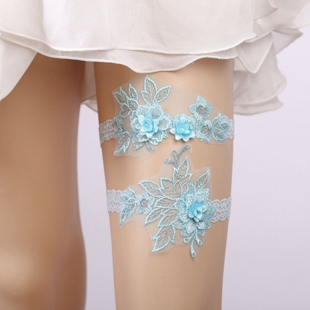 Bridal Elegant Lace Garters With Flower