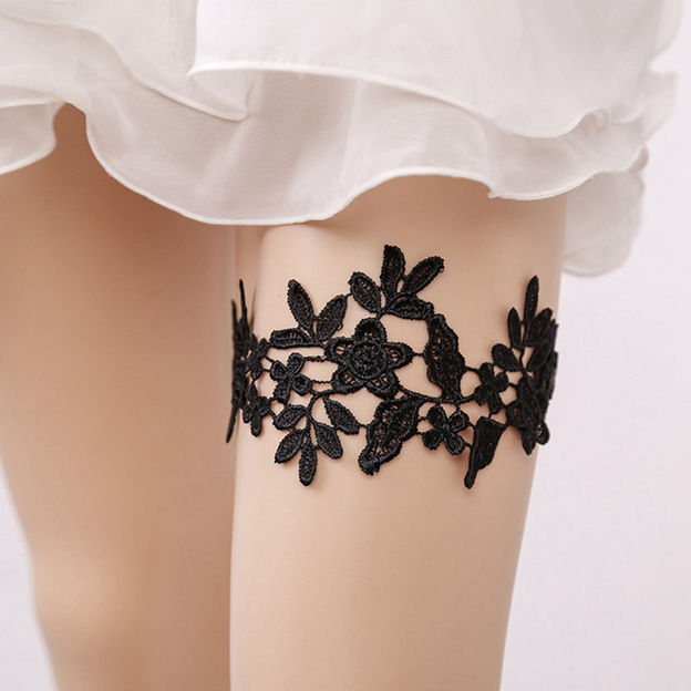 Bridal Elegant Lace Garters With appliques